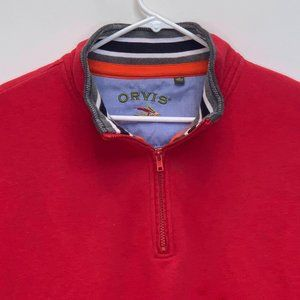 Orvis Mens 1/4 Zip Pullover Red 2XL
